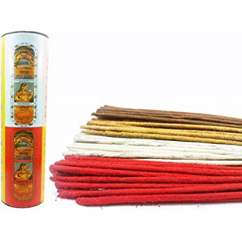 Seychelles Multi Rose, Loban, Nag Champa, Sandalwood Agarbatti Hand Rolled Incense Sticks Pack of 4 (80 Sticks)