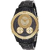JBW Wrist Watch for Men Diamond Inlay 150 Piece, Stainless Steel,J6348E