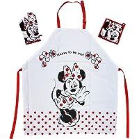 Tex idea Le cadeau pour les fans de Walt Disney Minnie Mouse : ensemble de tablier de cuisine avec mini tablier Minnie…