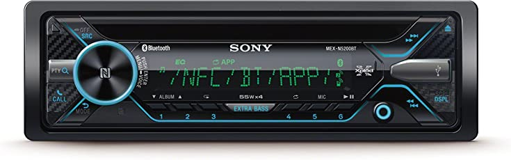 Sony MEXN5200BT Autoradio mit Dual Bluetooth (CD-Player, NFC, 2X Bluetooth, USB/Aux, Apple iPod/iPhone Control, 4X 55 Watt,) schwarz
