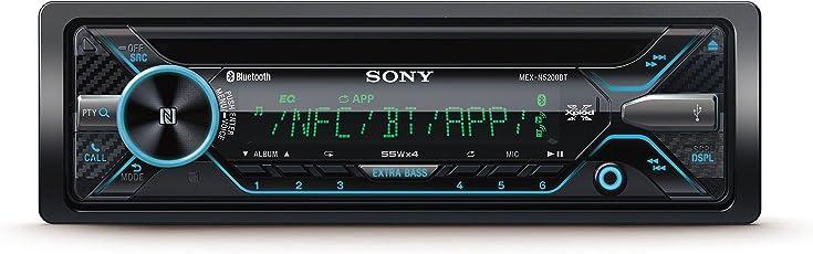 Sony MEXN5200BT Autoradio mit Dual Bluetooth (CD-Player, NFC, 2x Bluetooth, USB/AUX, Apple iPod/iPhone Control, 4x 55 Watt,) schwarz
