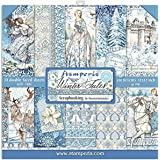 """Stamperia Pad Bloc Papier Scrap Double 10 Feuilles 30,5x30,5 (12""""x12"""") -Face Winter Tales, Multicolore, 5cm"""