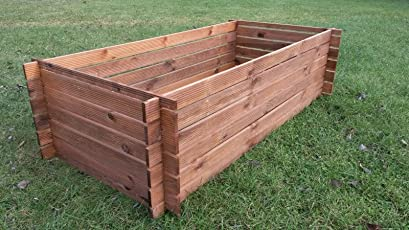 Stabiler Holzkomposter Komposter Kompostbehalter Hochbeet 120 X 120