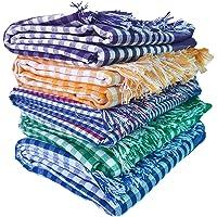 UR LITTLE SHOP Handloom Cotton Towels 32 x 68 Inches_Pack of 5_Multi Color