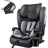 besrey Siège Auto Isofix siège auto groupe 1/2/3 siège auto bébé Portable Pliable de 9 mois à 12 ans (15-36 kg)