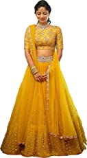 Stylevilla women'sSequence and Embroidary Semi Stitched lehengas, lehenga choli (SBE-06,FreeSize)