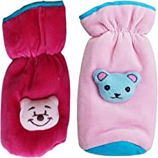 My Newborn Baby Feeding Bottle Covers with Attractive Cartoon (Assorted Colors) (Pink_Rani)
