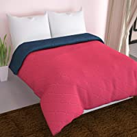 Divine Casa Everyday Solid Polyester All Weather Reversible AC Single Comforter - Blue and Red