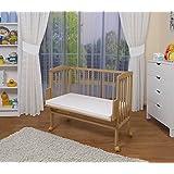 WALDIN Lit cododo pour bébé/berceau - hauteur réglable - bois naturel ou blanc laqué,non traité,Surface de couchage…