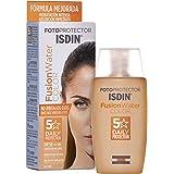 Isdin Fotoprotector Fusion Water COLOR SPF 50 - Protector solar facial de fase acuosa con color para uso diario, Cobertura na