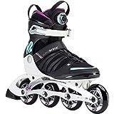 K2 Damen Inline Skates ALEXIS 84 BOA - Schwarz-Weiß-Türkis - 30D0190.1.1