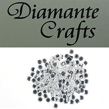 1000 x 1mm Clear Iridescent AB Diamante Loose Flat Back Rhinestone Craft Gems