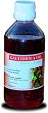 Nilgiri Aromas Gaultheria Oil Joints Pain Reliever Ideal For Massage Over Skin & Muscles Essential Wintergreen Oil - 100ml