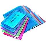 Rapesco 1498 Pack de 25 Pochettes Porte-document A5 Couleurs Assorties Transparentes