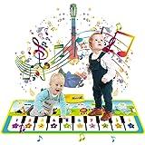 LISOPO Tappeto Musicale Bambini, Tappeto Pianoforte Musicale 19 Tasti 8 Strumenti, Tappeto Danza Giocattoli per Bambini 1 2 3