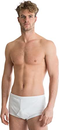 Octave® 4 Pack Mens Soft 100% Combed Cotton Classic Y Style Full Briefs
