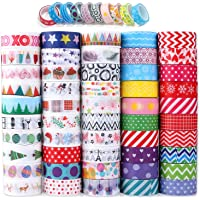 Washi Tape, Buluri 50 Rouleaux Washi Masking Tape Adhésif Ruban Adhésif pour Scrapbooking Artisanat de Bricolage (Washi…