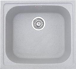 ZINZER Granite Kitchen Sink : Single Bowl - Granular Grey color