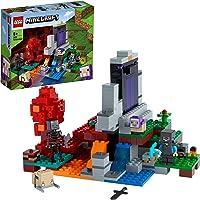 LEGO Minecraft Il Portale in Rovina, Set Giocattoli per Bambini di 8 Anni con Steve, la Pecorella e il Baby Hoglin…