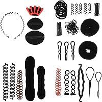 Set di accessori per acconciature per capelli, 58 pezzi