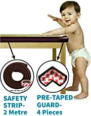 KidDough Baby Proofing Safety Strip and Corner Guard   Extra Thick Safety Soft Cushion Edge Corner Protector Guard   Table Corner Guard   Corner Protector   Baby Proofing