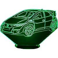 HON. CIVIC type R (2), Lampada illusione 3D con LED - 7 colori.