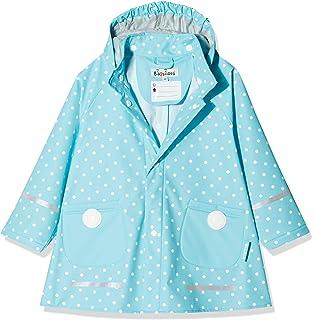 d49b3176747d70 Playshoes Kinder Regenjacke mit abnehmbarer Kapuze, niedlicher Regen-Mantel  für Mädchen, gepunktet mit