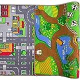 """The Rug House Tapis City imprimé double face pour garçon 80cm x 150cm (2'7"""" x 4'11"""" )"""