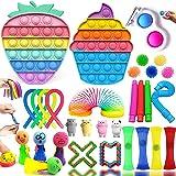 Fidget Toy Pack, 32 Piezas Fidget Toy Pack Barato, Juguetes Niños para Antiestres Adultos y Niños, Pack Fidget Toys Incluye P
