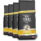 Der Franz, caffè Crema UTZ, macinato, 4 x 1000 g