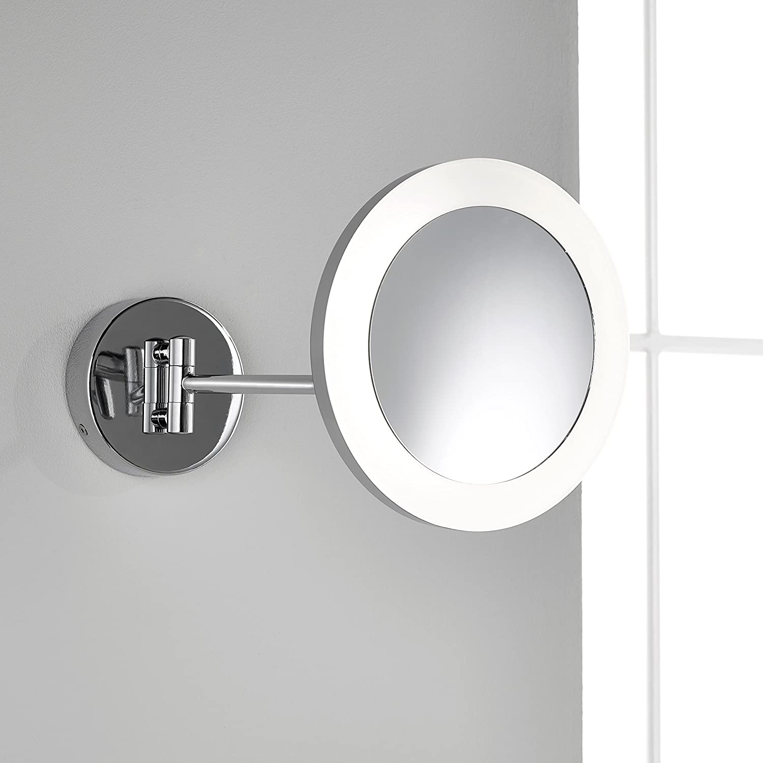 Pebble Grey; Roca LED Bathroom Vanity Mirror - Wall Mounted, 3x  Magnification, Toggle Switch & Pivoting Arm: Amazon.co.uk: Kitchen & Home