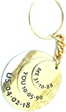 Smart Galleria Golden Anniversary Gift Customized Date Key Case