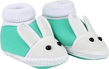 NeskaModa Unisex Baby Green Cotton Booties -Children: S
