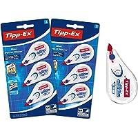 Tipp-Ex Correction Mini Pocket Mouse Rubans Correcteurs - Très Résistant - 6 m x 5 mm, Lot de 2 Blisters de 3