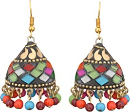Sitashi Multicolor Metal Jhumki Earring For Women