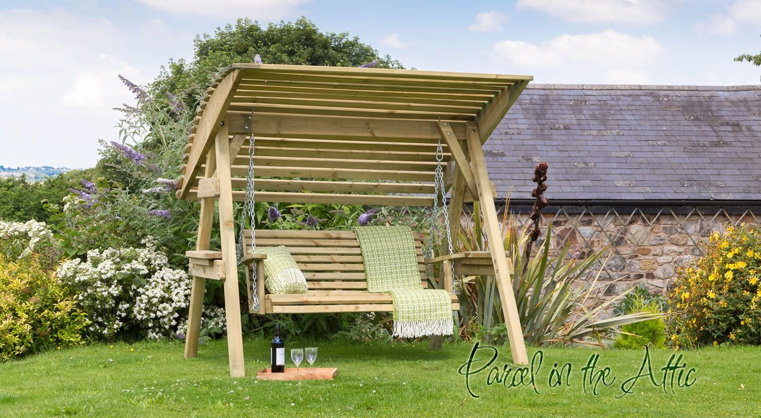 how to build a garden bench swing