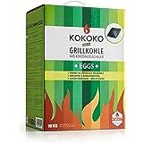 KOKOKO EGGS Grillkohle von McBrikett | 10kg | Öko Kokos Grillbriketts | Ideal für Dutch Oven, Kugelgrill, Weber & Watersmoker