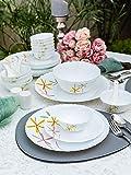 LaOpala Autumn Flower Opalware Dinner Set (White) - Set of 35 Pieces