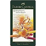 Faber-Castell Polychromos Kleurpotloden, keuze uit verschillende uitvoeringen Kleurpotloden. 12er Metalletui multi
