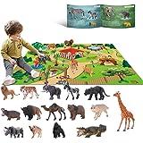 15 Juguetes de animales para niños de 3 4 5 6 años de edad juego salvaje de la selva juguetes educativos de plástico para ani