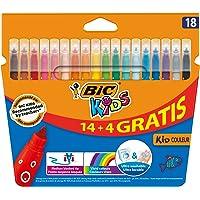 BIC Kids Kid Couleur Feutres de Coloriage - Etui Carton de 14+4