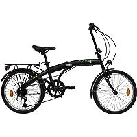 E.DE.N. Bikes Velo 20'' Pliant - 6 Vitesses Equipe d'un Garde Boue ET Porte Bagages
