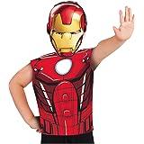 Marvel - Disfraz de Iron Man set de fiesta camiseta + máscara, talla única S-M 3-6 años (Rubie's 620968)