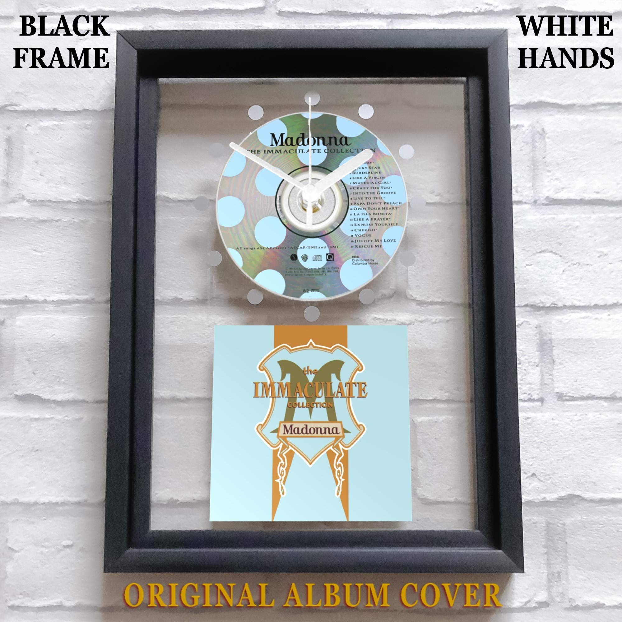 MADONNA - The Immaculate Collection: FRAMED CD ART CLOCK/Exclusive Design -  Top Handmade   Furniture   Gifts   Toys   Homeware