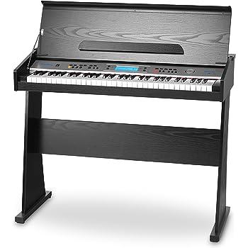 FunKey DP-61 II Keyboard mit 61 Tasten im Digitalpiano-Design (61 Keyboard Tasten, 128 verschiedene Sounds, 128 Rhythmen, 12 Demo Songs, Begleitautomatik, Record Funktion)