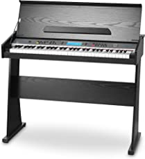 FunKey DP-61 II Keyboard mit 61 Tasten im Digitalpiano-Design (61 Keyboard Tasten, 128 verschiedene Sounds, 128 Rhythmen, 12 Demo Songs, Begleitautomatik, Record Funktion)