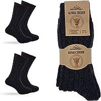 MOUNTREX® Alpaka Socken, Wollsocken für Damen und Herren - Wintersocken, Warme Haussocken, Thermosocken