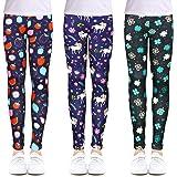 OioTuyi Leggings para niñas elásticos Longitud hasta el Tobillo Pantalones de impresión de Flores para 104-158