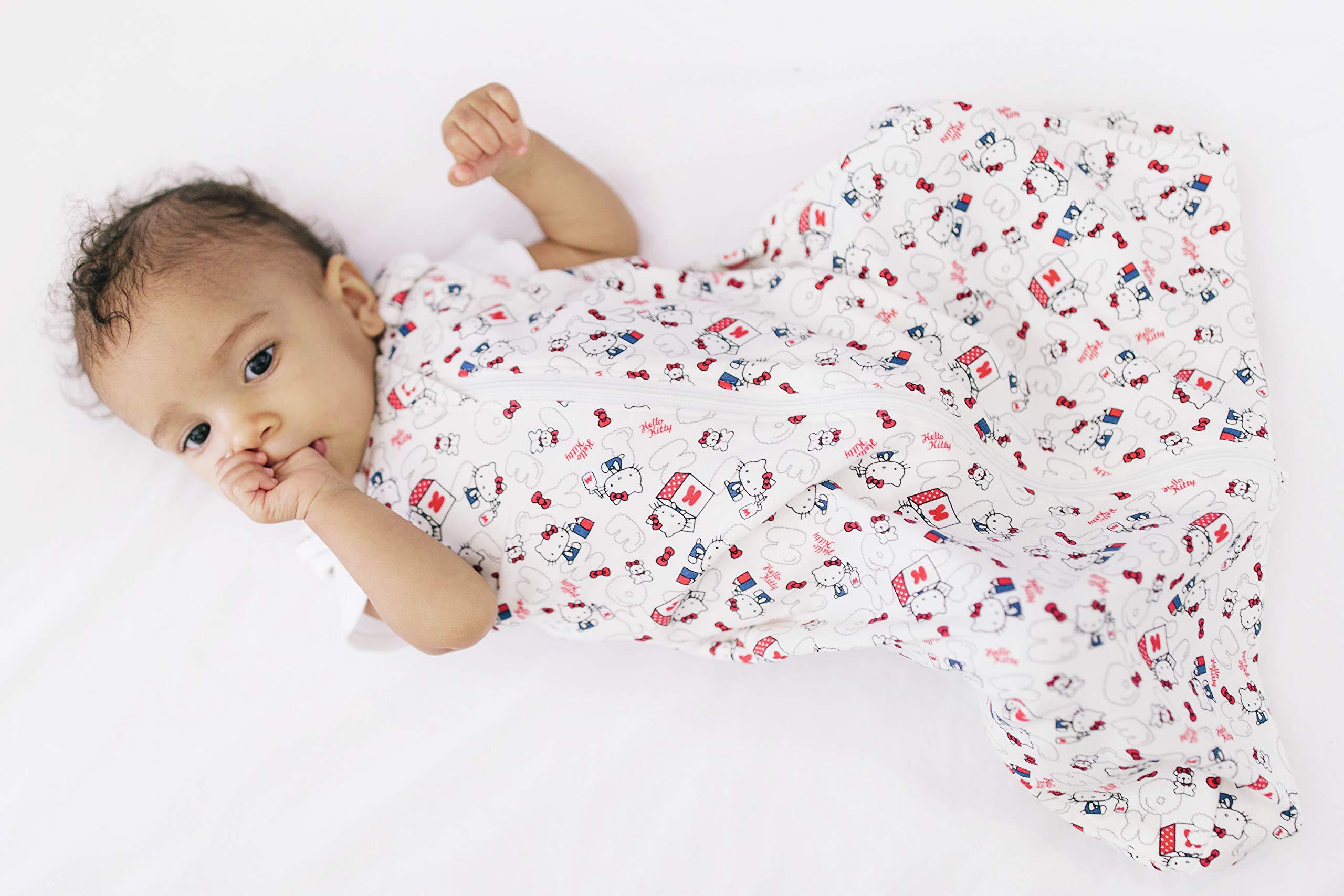 Ergobaby Saco de Dormir Bebe Recién Nacidos en Algodón Hello Kitty Head In The Clouds, Niño Niña 0-6meses, TOG0.5