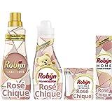 Robijn Rose Chique Geurpakket - Wasmiddel, Wasverzachter, Geurstokjes en Geurkaars - 1 pakket
